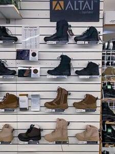 CC Military ALTAI boot display